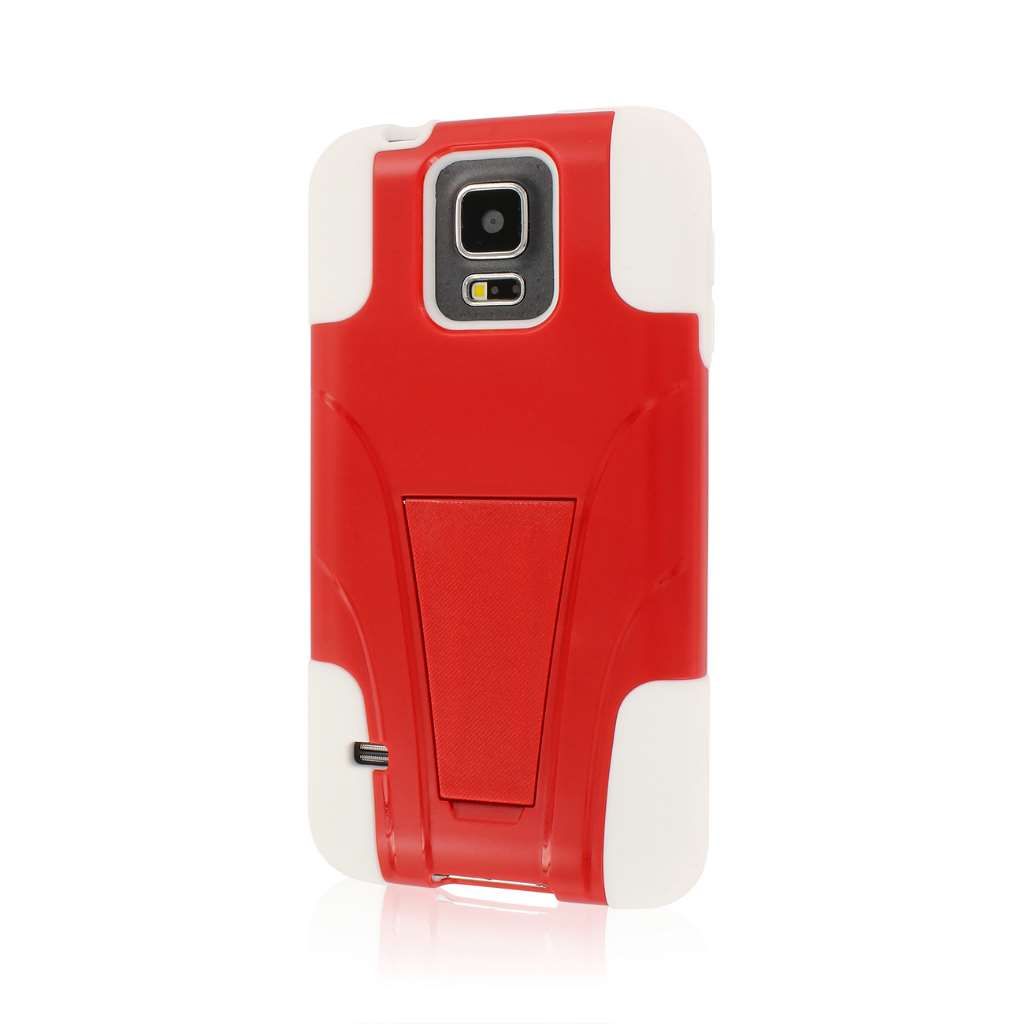 Samsung Galaxy S5 - Red MPERO IMPACT X - Kickstand Case Cover