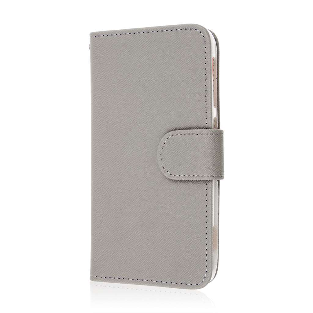 HTC Desire EYE - Gray MPERO FLEX FLIP Wallet Case Cover
