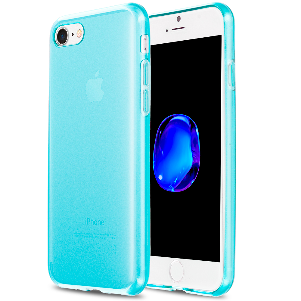 Apple iPhone 7 Baby Blue TPU Rubber Skin Case Cover