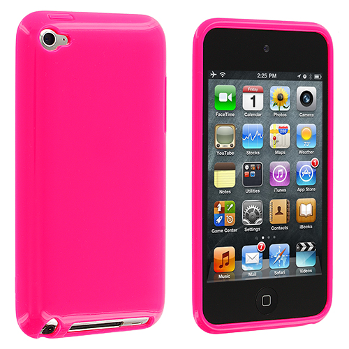 Apple iPod Touch 4th Generation Solid Hot Pink TPU Rubber Skin Case Cover