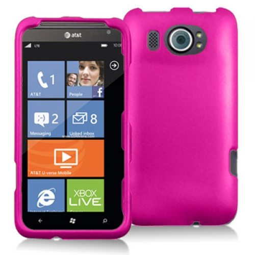 HTC Titan II 2 Hot Pink Hard Rubberized Case Cover
