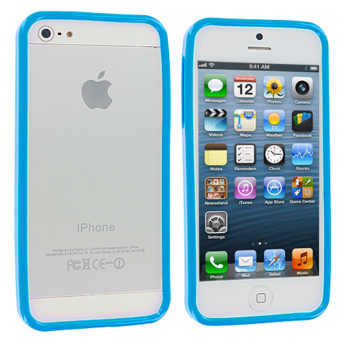 Apple iPhone 5 Baby Blue Solid TPU Bumper