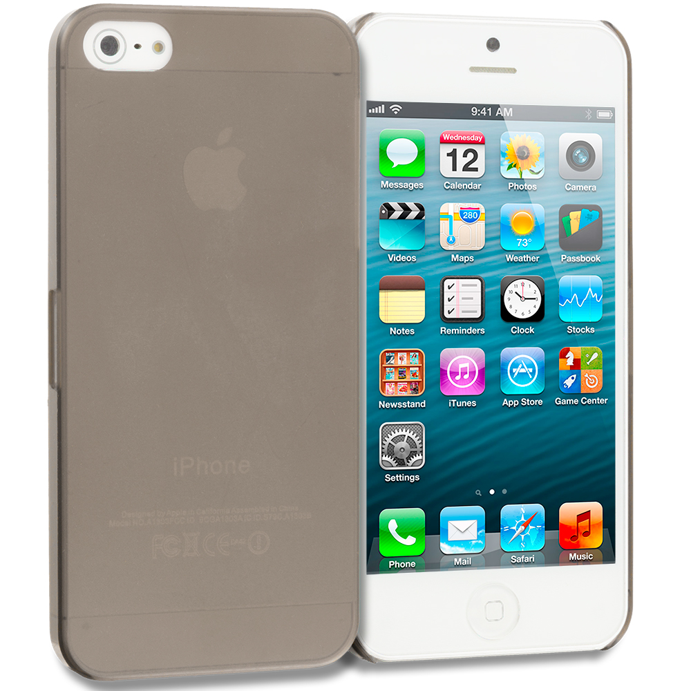 Apple iPhone 5/5S/SE Smoke 0.3mm Crystal Hard Back Cover Case