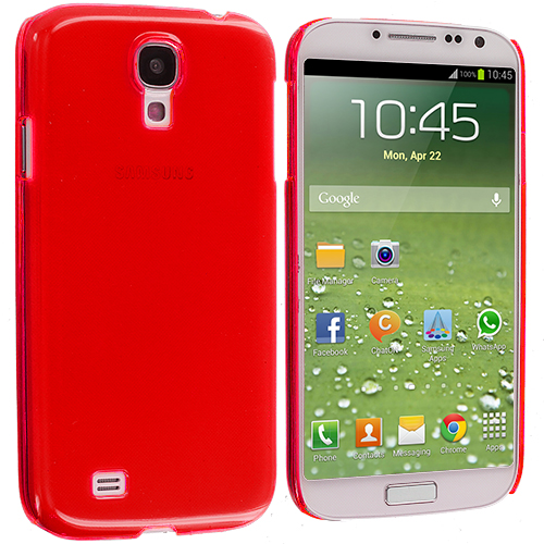 Samsung Galaxy S4 Red Crystal Hard Back Cover Case