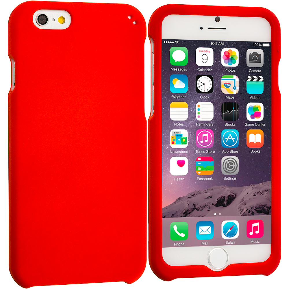 Apple iPhone 6 Plus 6S Plus (5.5) Orange Hard Rubberized Case Cover