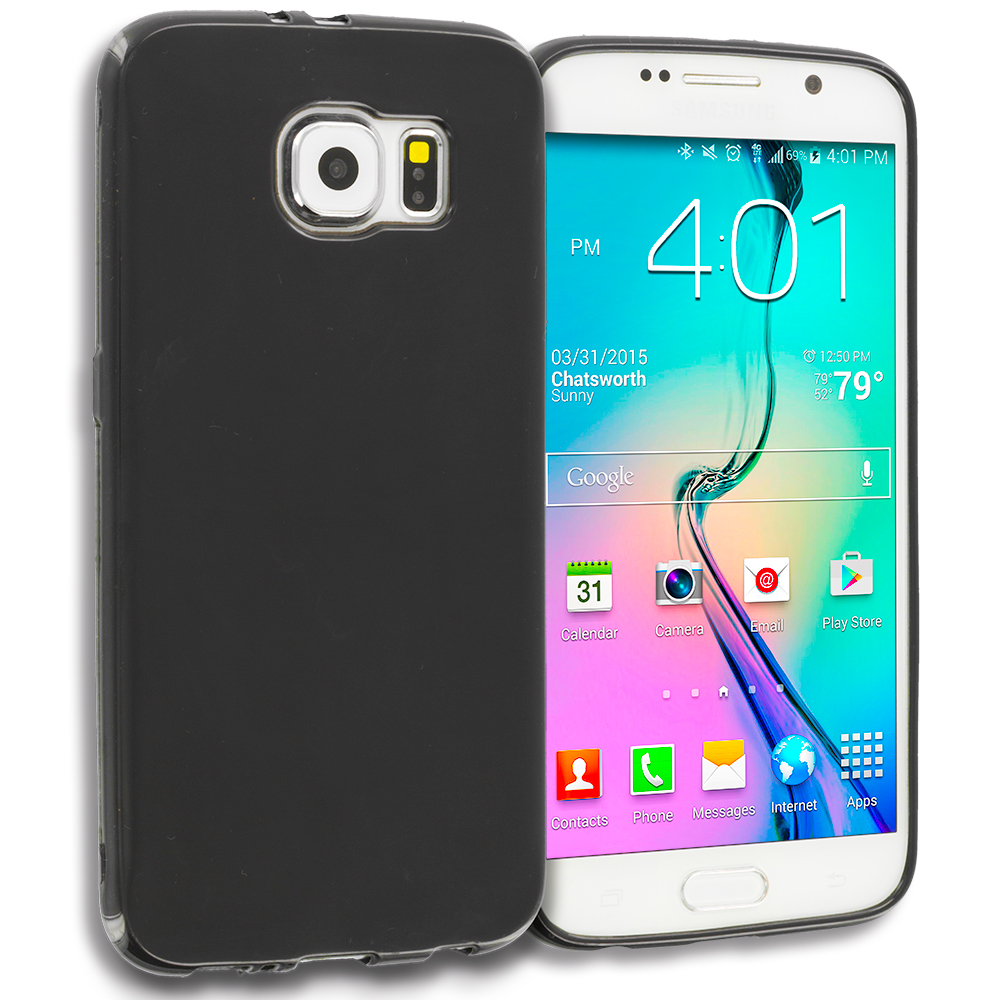 Samsung Galaxy S6 Black TPU Rubber Skin Case Cover