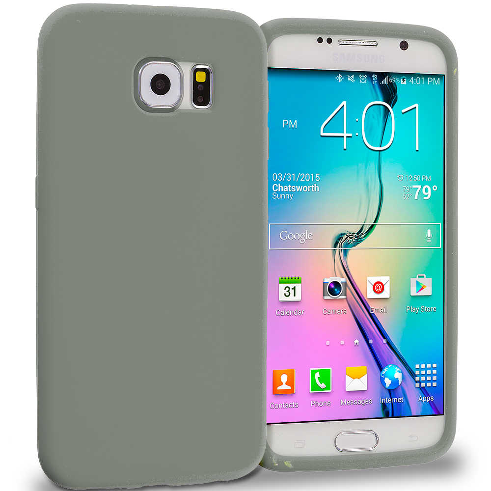 Samsung Galaxy S6 Smoke Silicone Soft Skin Rubber Case Cover