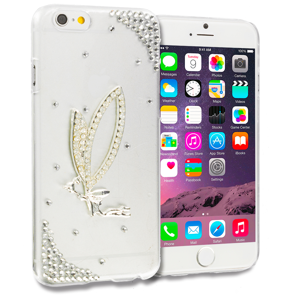 Apple iPhone 6 Plus 6S Plus (5.5) 4 in 1 Combo Bundle Pack - Bling Rhinestone Case Cover : Color Style 8