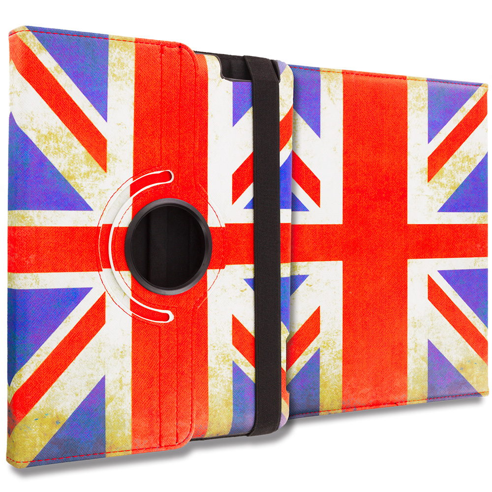 Apple iPad 4th 3rd 2nd Gen The Union Flag 360 Rotating Case Cover Pouch Stand