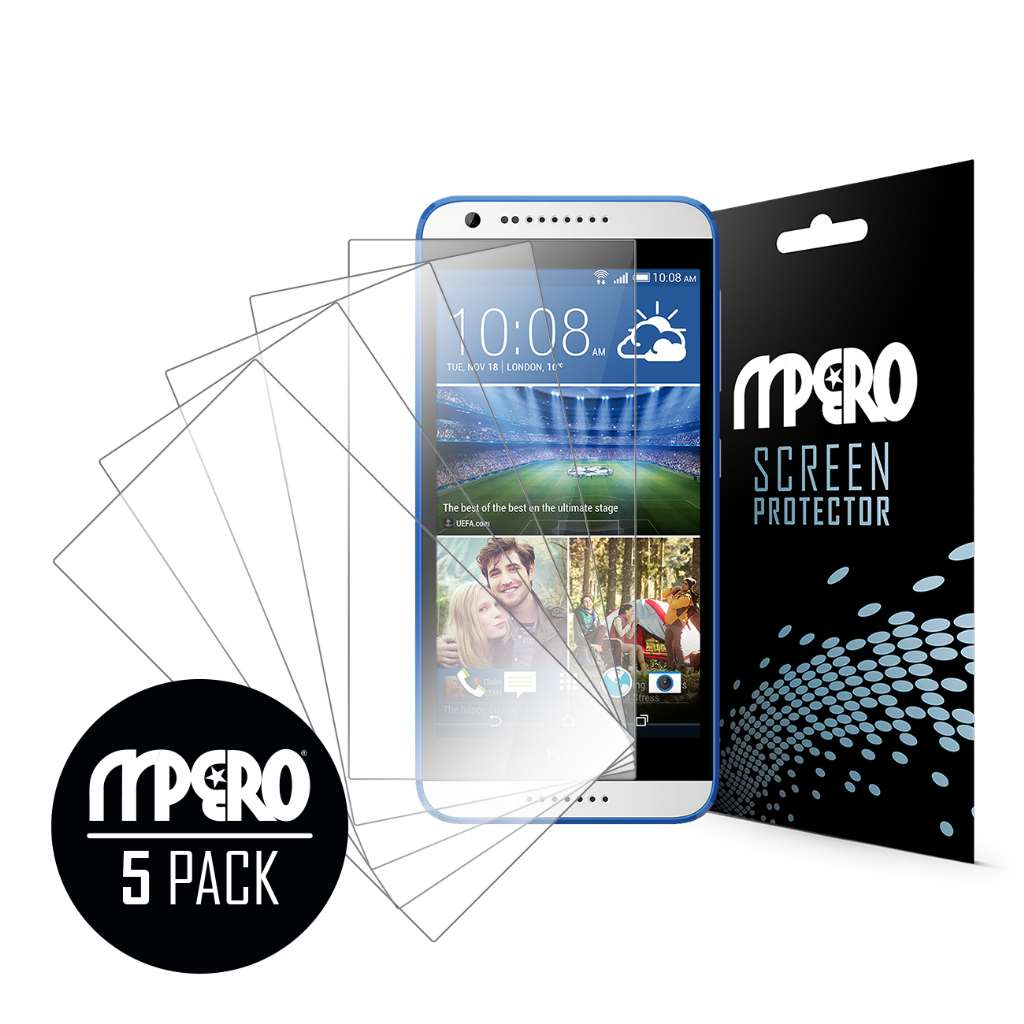 HTC Desire 620 MPERO 5 Pack of Ultra Clear Screen Protectors