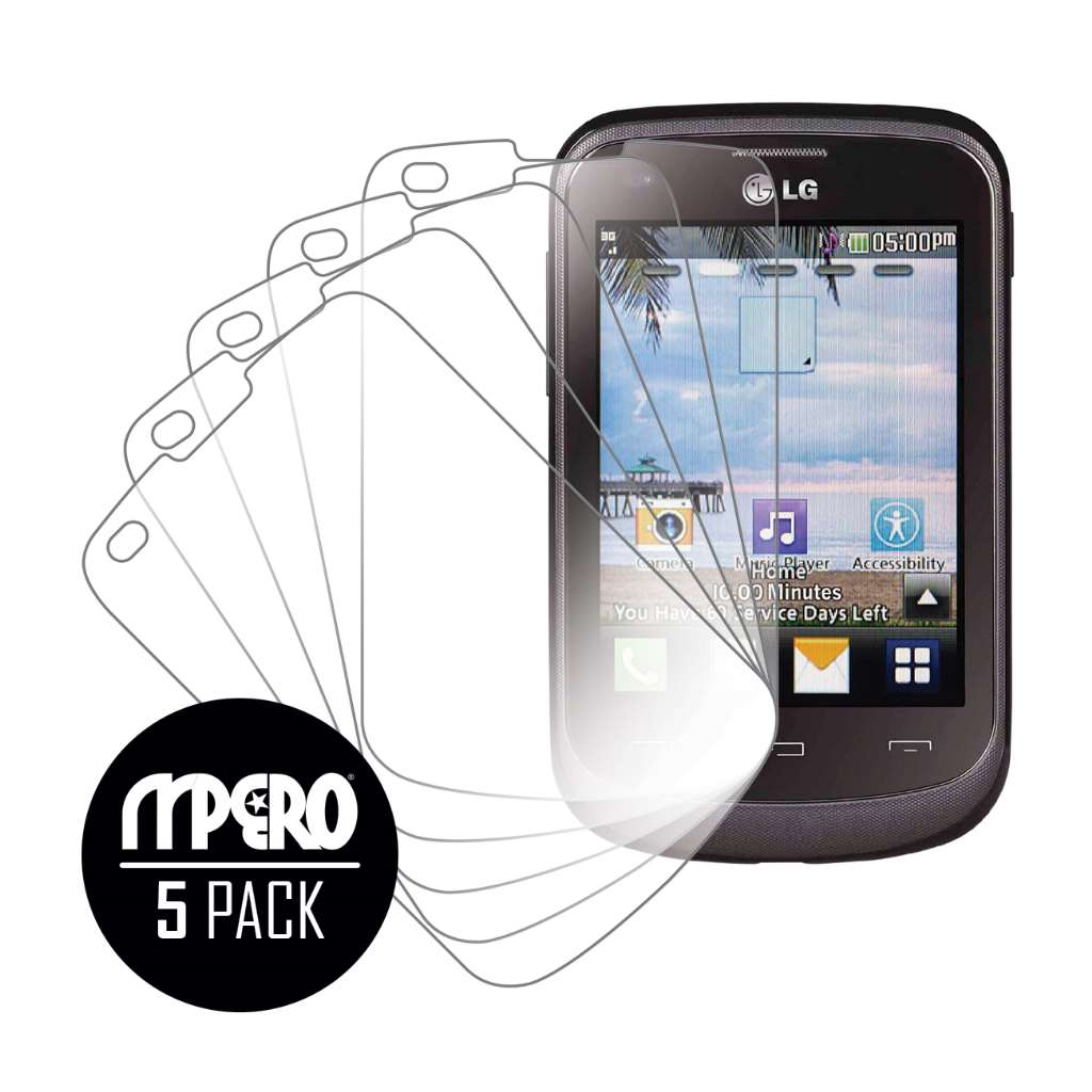 LG 306G MPERO 5 Pack of Ultra Clear Screen Protectors