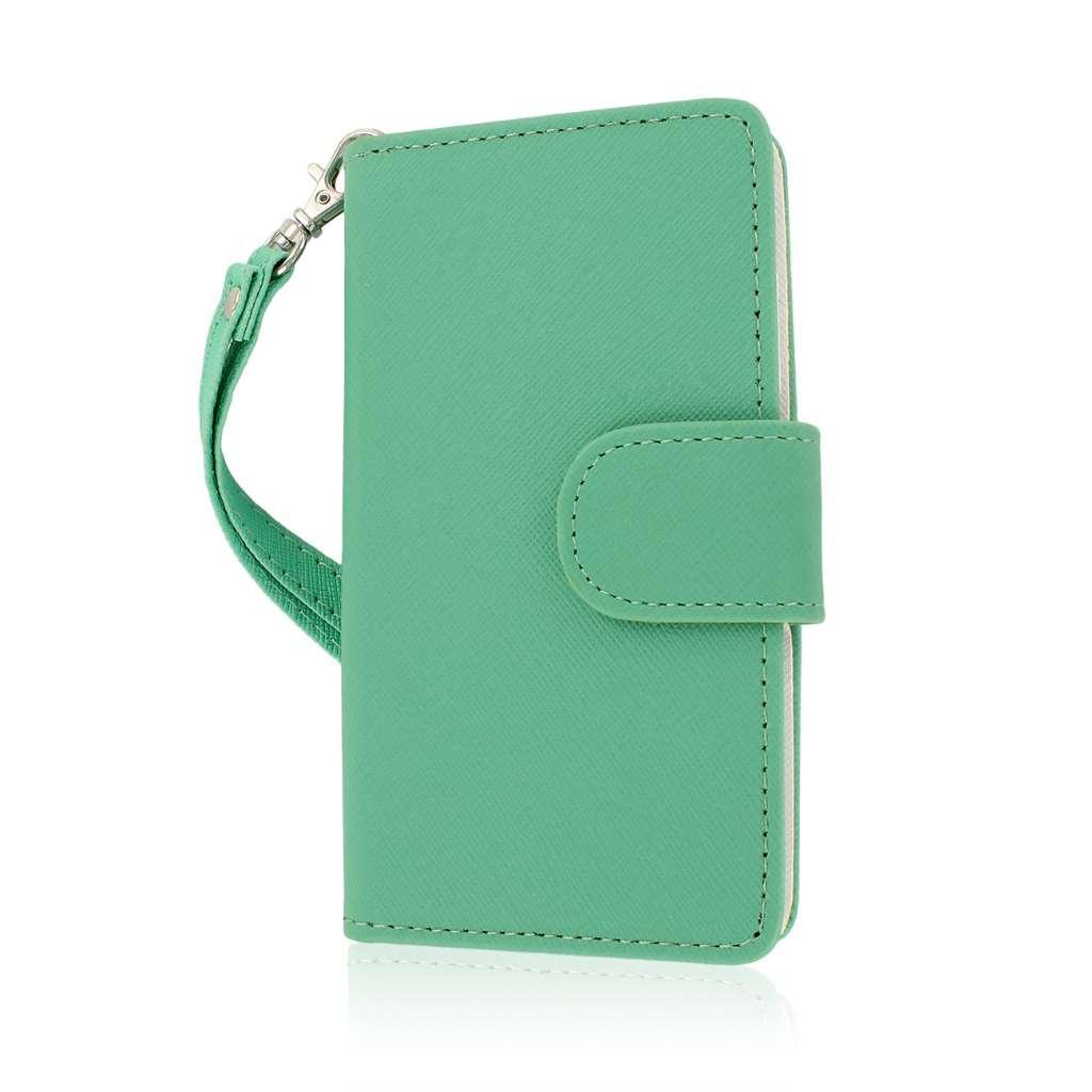 Nokia Lumia 521 - Mint MPERO FLEX FLIP Wallet Case Cover