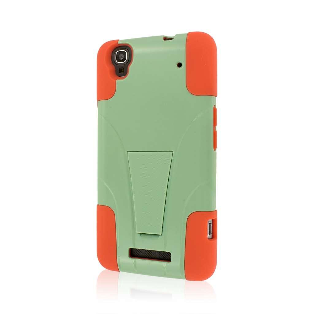 ZTE Max - Coral / Mint MPERO IMPACT X - Kickstand Case Cover
