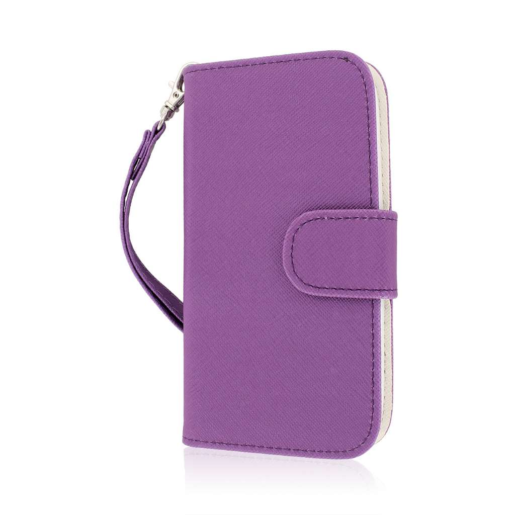 Kyocera Hydro Icon - Purple MPERO FLEX FLIP Wallet Case Cover