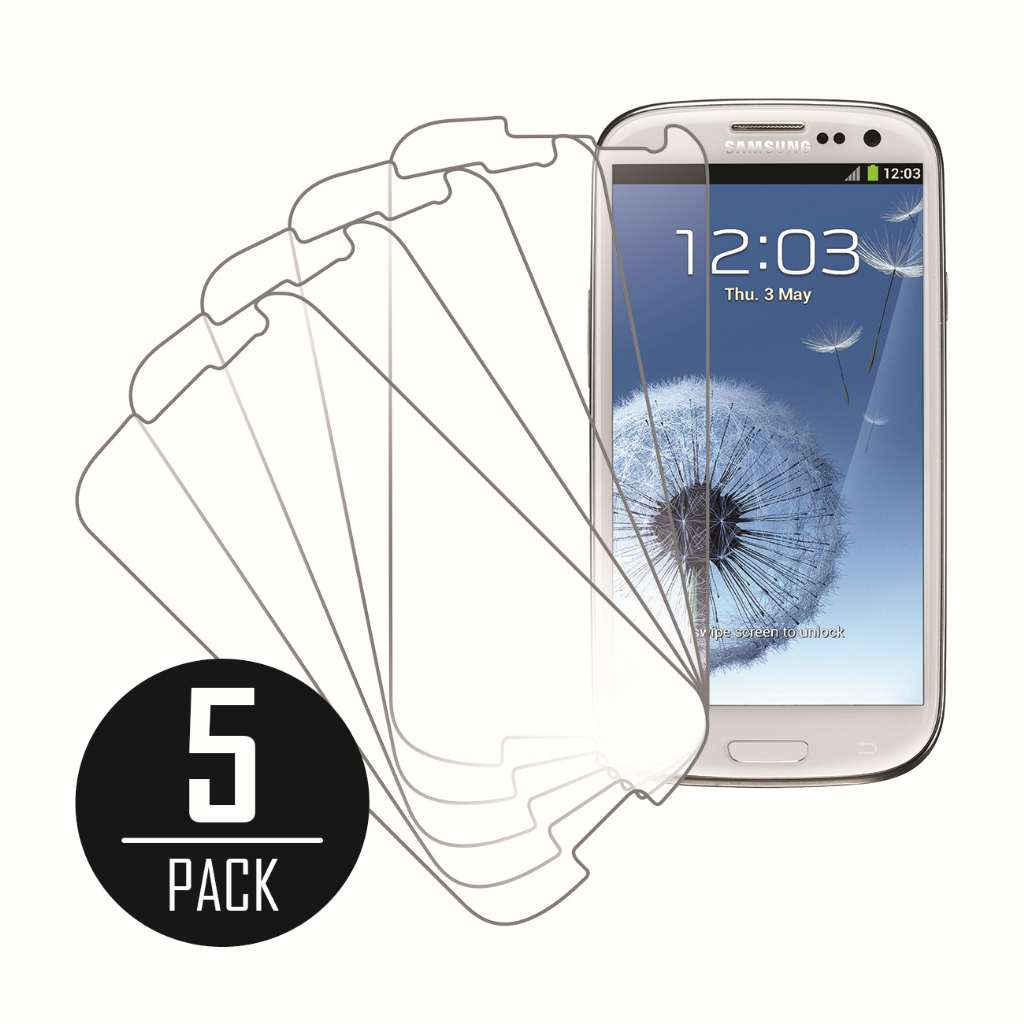 Samsung Galaxy S3 MPERO 5 Pack of Clear Screen Protectors