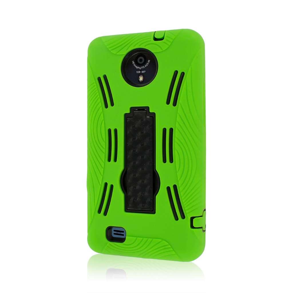 ZTE Vital N9810 - Neon Green MPERO IMPACT XL - Kickstand Case Cover