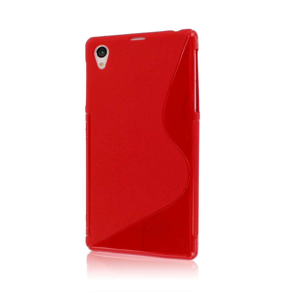 Sony Xperia Z1 C6906 - Red MPERO FLEX S - Protective Case Cover
