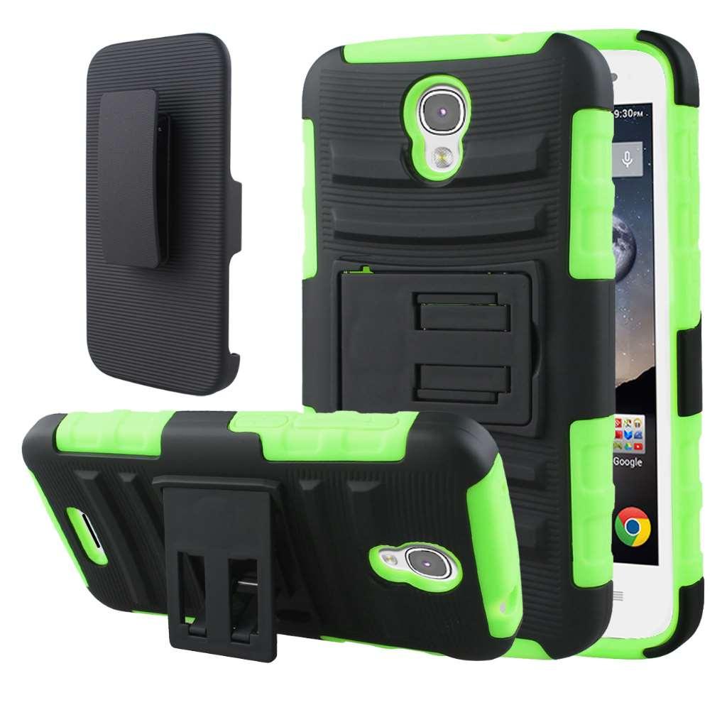 Alcatel OneTouch POP Astro - Neon Green MPERO IMPACT XT - Kickstand Case