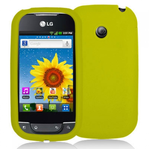 LG Optimus Net P690 Yellow Silicone Soft Skin Case Cover