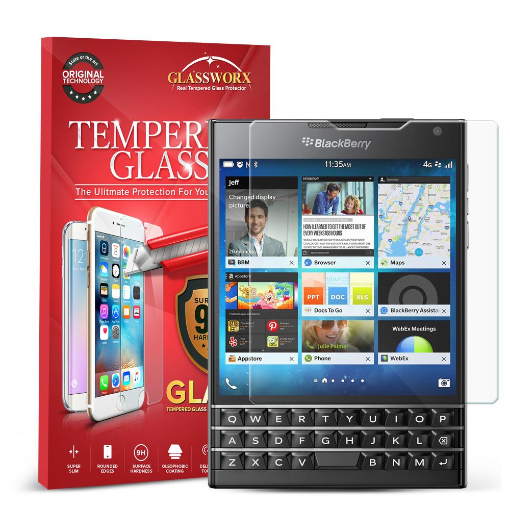 Blackberry Passport GlassWorX HD Clear Tempered Glass Screen Protector