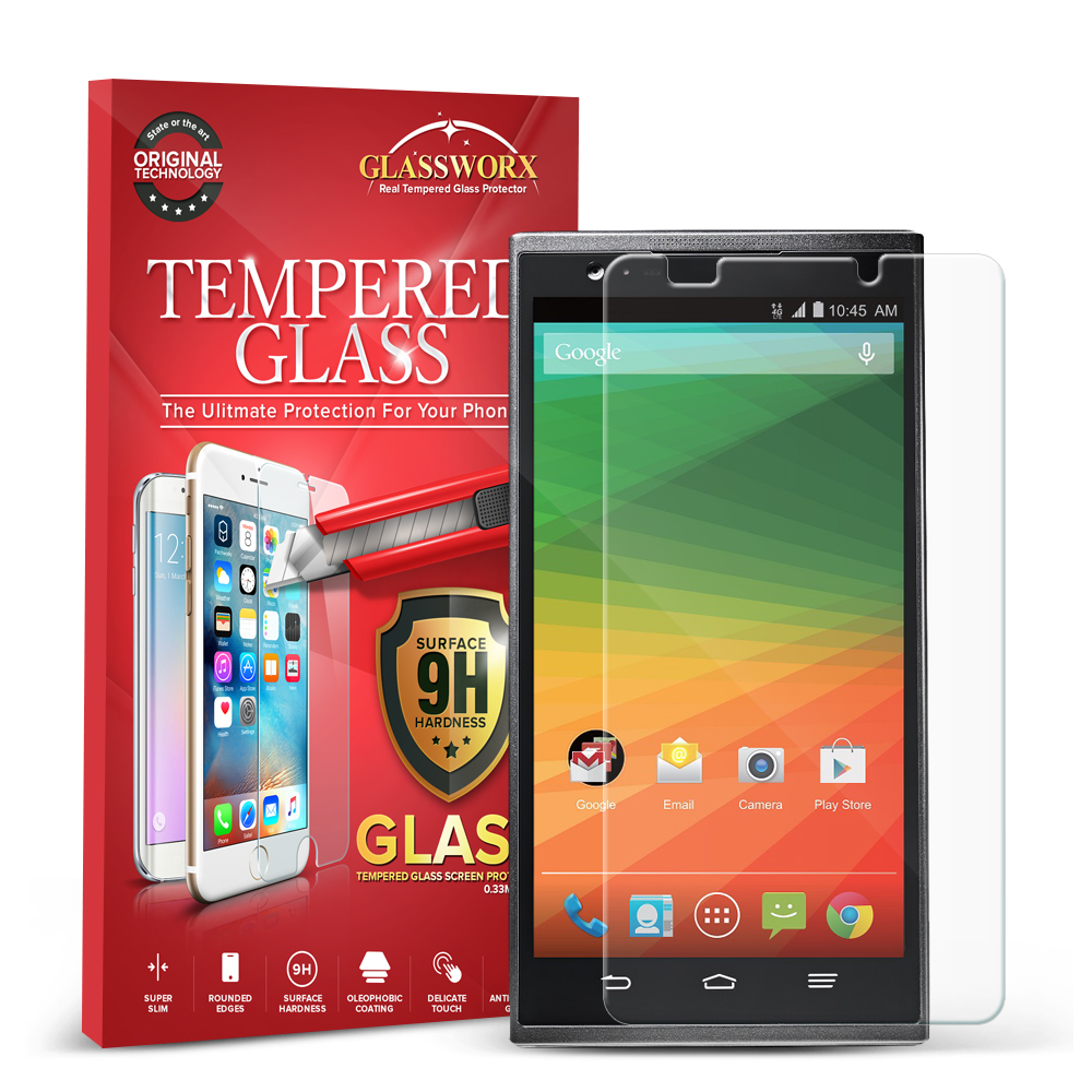 ZTE Zmax Clear GlassWorX HD Tempered Glass Screen Protector