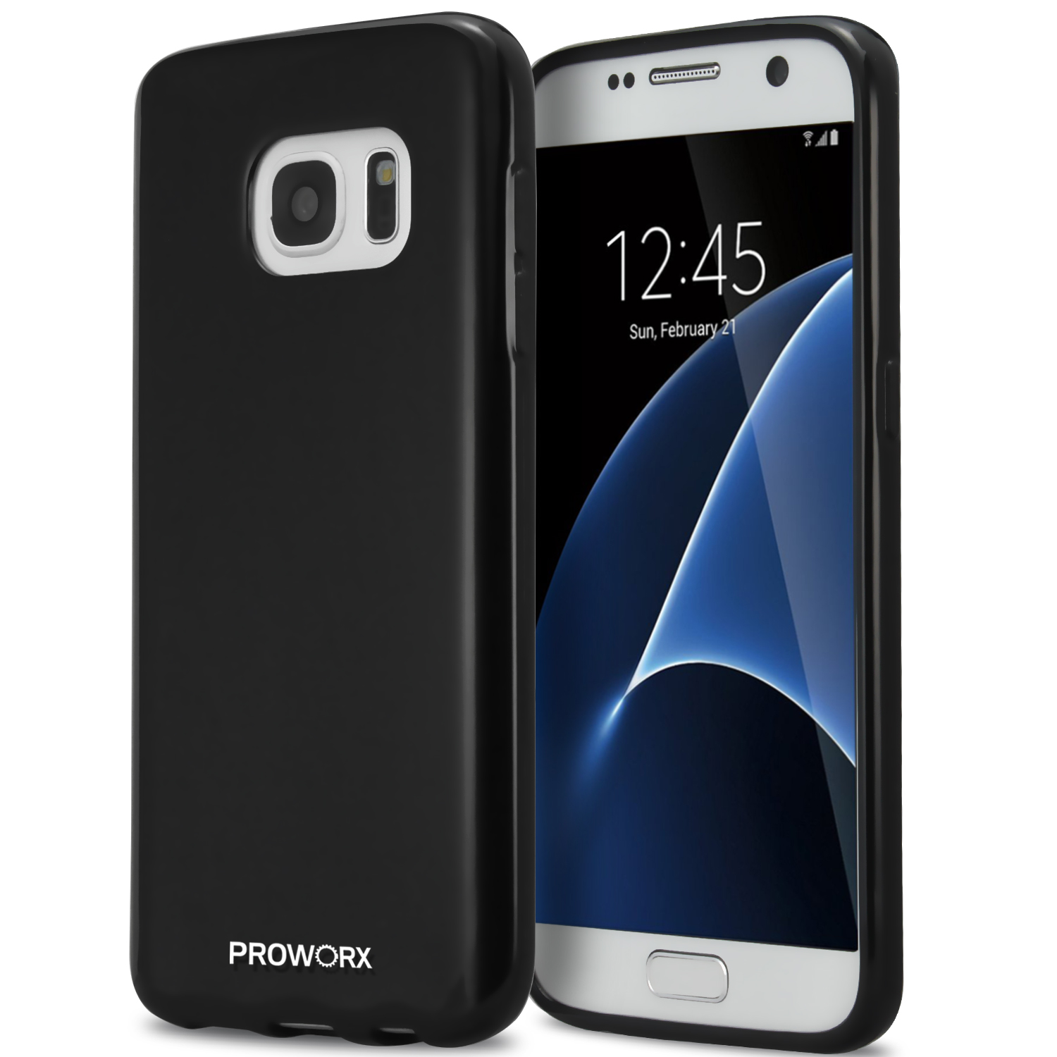 Samsung Galaxy S7 Black ProWorx Ultra Slim Thin Scratch Resistant TPU Silicone Case Cover
