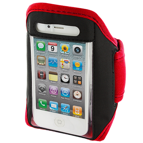Apple iPhone 4 Red Armband Running Sports Gym Armband