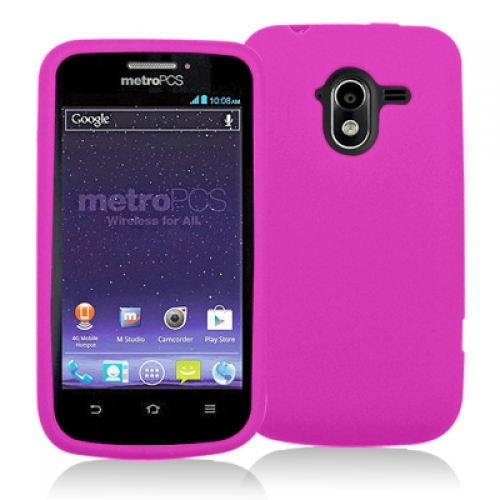 ZTE Avid 4G N9120 Hot Pink Silicone Soft Skin Case Cover