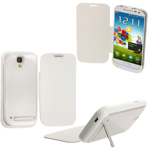 Samsung Galaxy S4 White External Backup Battery Case Cover