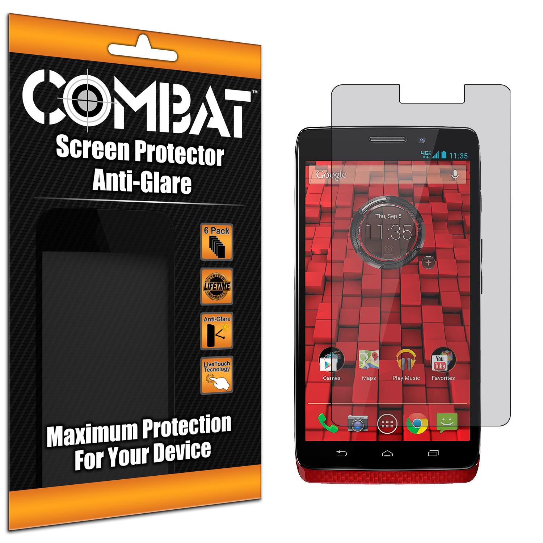 Motorola Droid Ultra XT1080 Combat 6 Pack Anti-Glare Matte Screen Protector