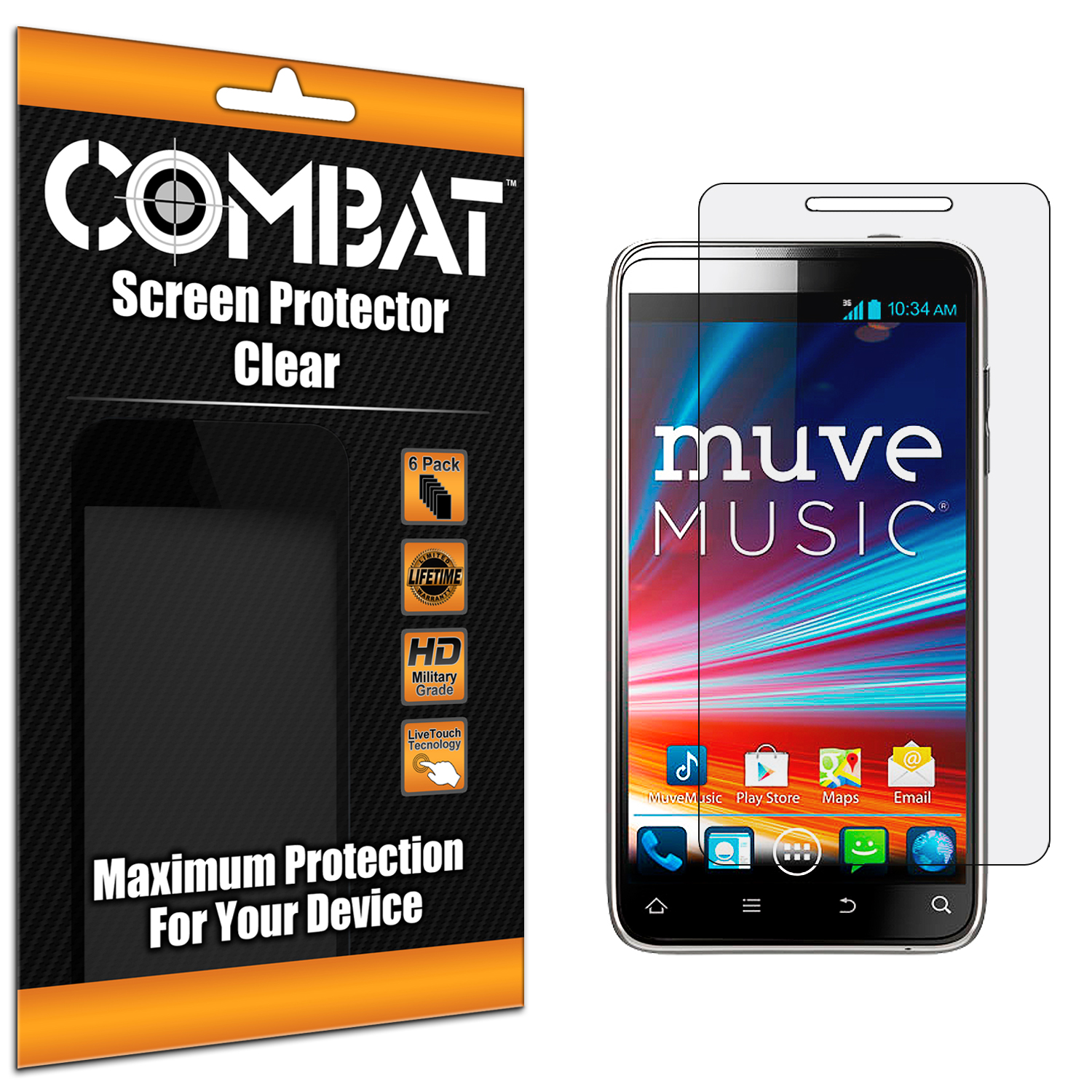 ZTE Engage LT N8000 Combat 6 Pack HD Clear Screen Protector