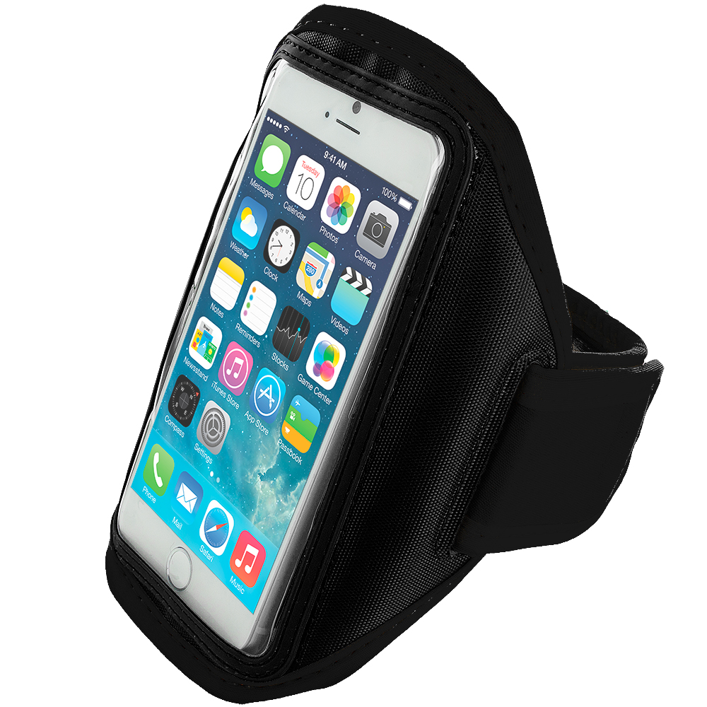 Apple iPhone 6 Plus 6S Plus (5.5) Black Running Sports Gym Armband