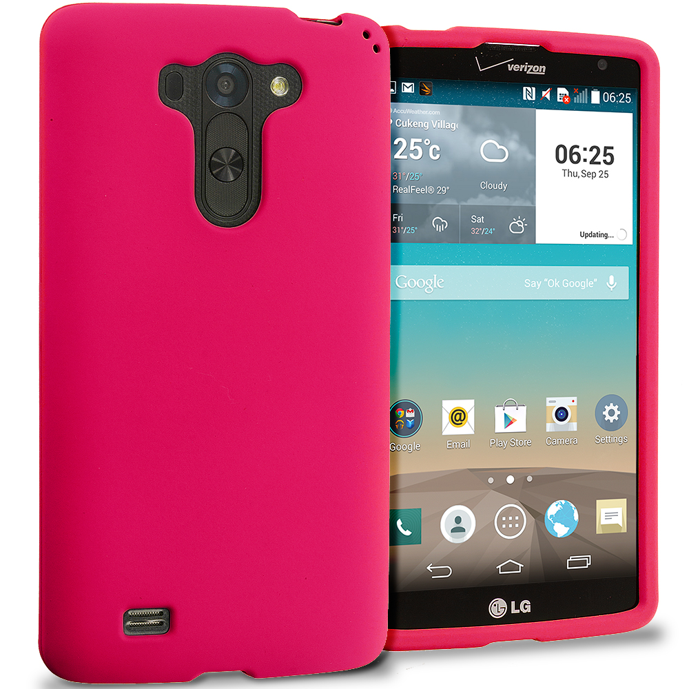 LG G Vista Red Hard Rubberized Case Cover