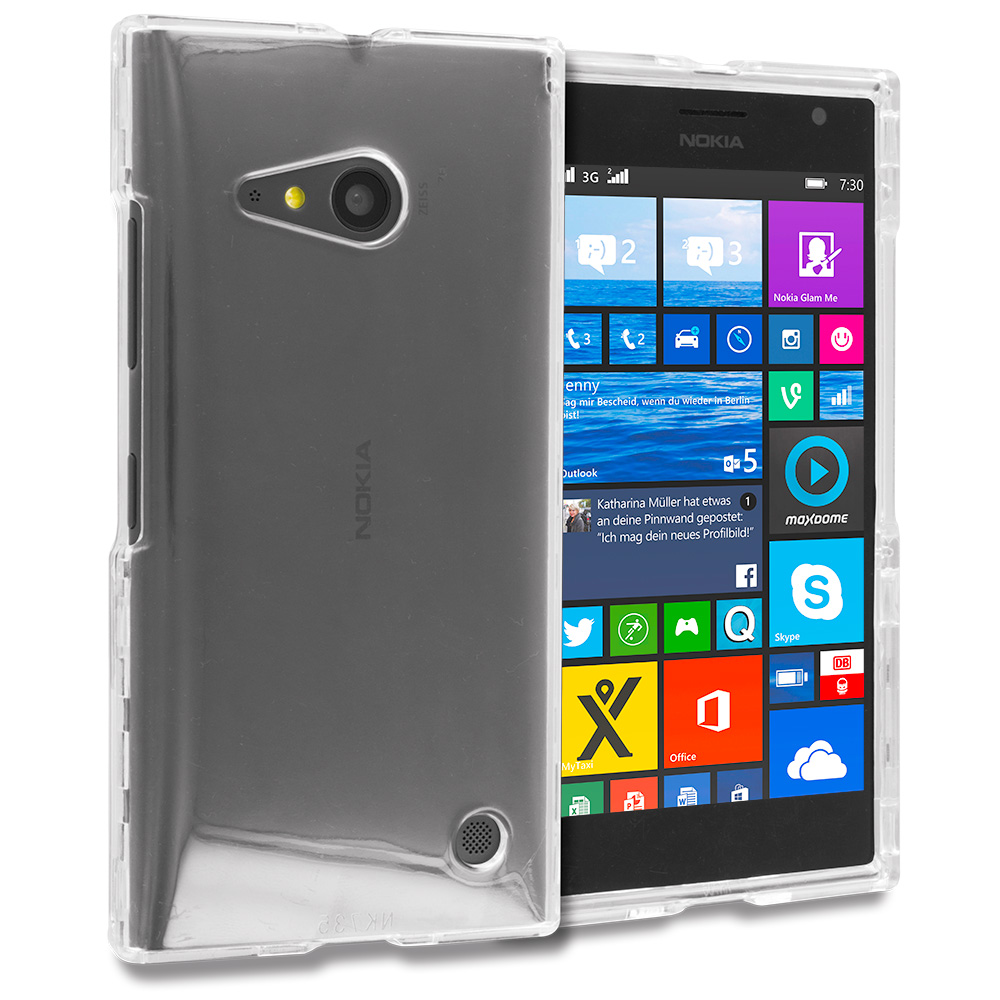 Nokia Lumia 730 735 Clear Crystal Transparent Hard Case Cover