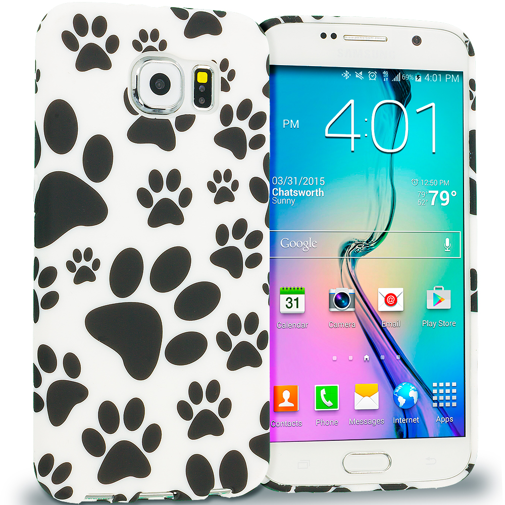 Samsung Galaxy S6 Dog Paw TPU Design Soft Rubber Case Cover
