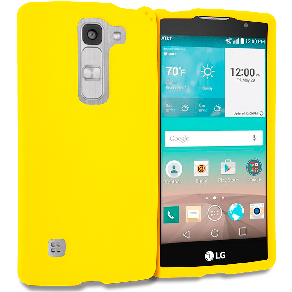 LG Escape 2 Logos Spirit LTE Yellow Hard Rubberized Case Cover