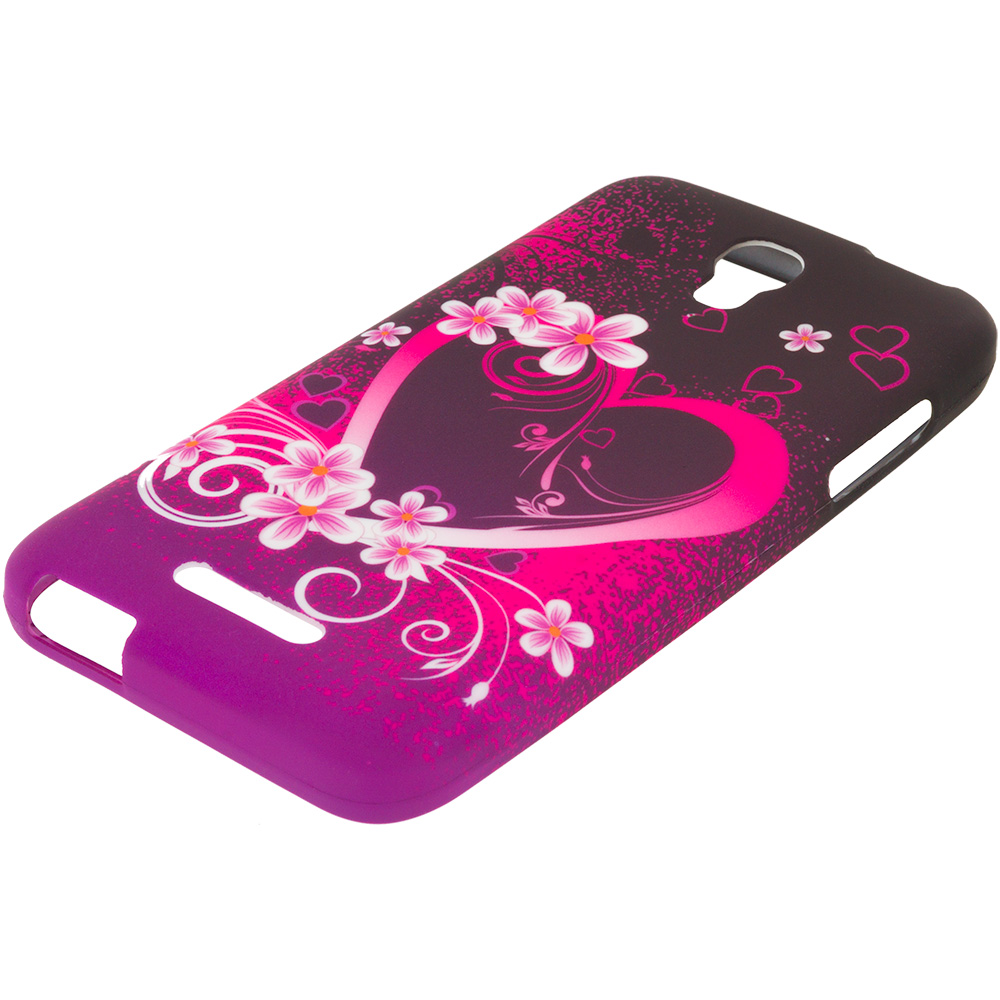 Alcatel One Touch Elevate Purple Love TPU Design Soft Rubber Case Cover