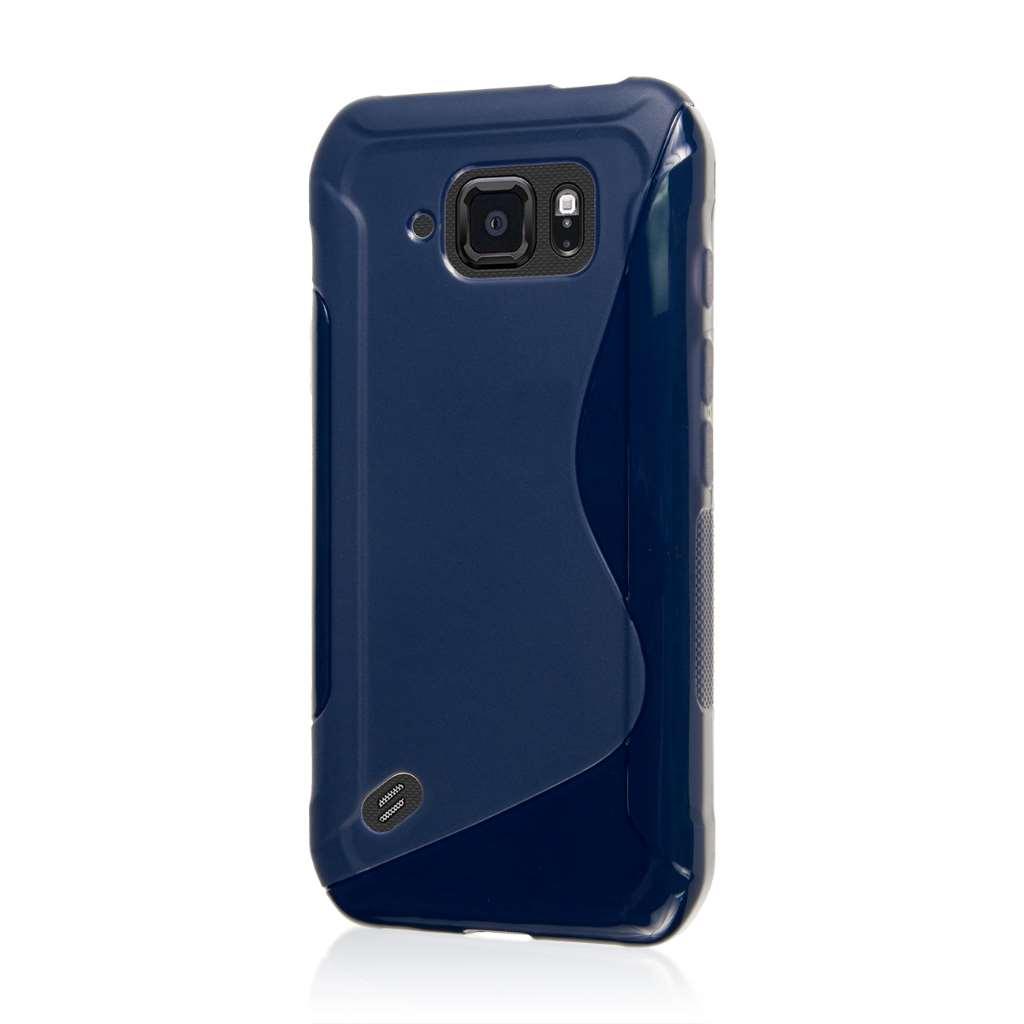 Samsung Galaxy S6 Active - Navy Blue MPERO FLEX S - Protective Case Cover