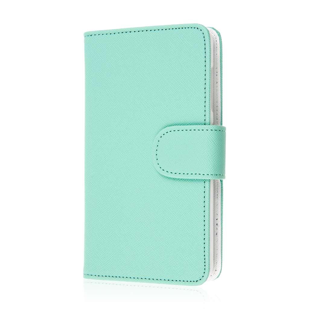 Microsoft Lumia 535 - Mint MPERO FLEX FLIP Wallet Case Cover