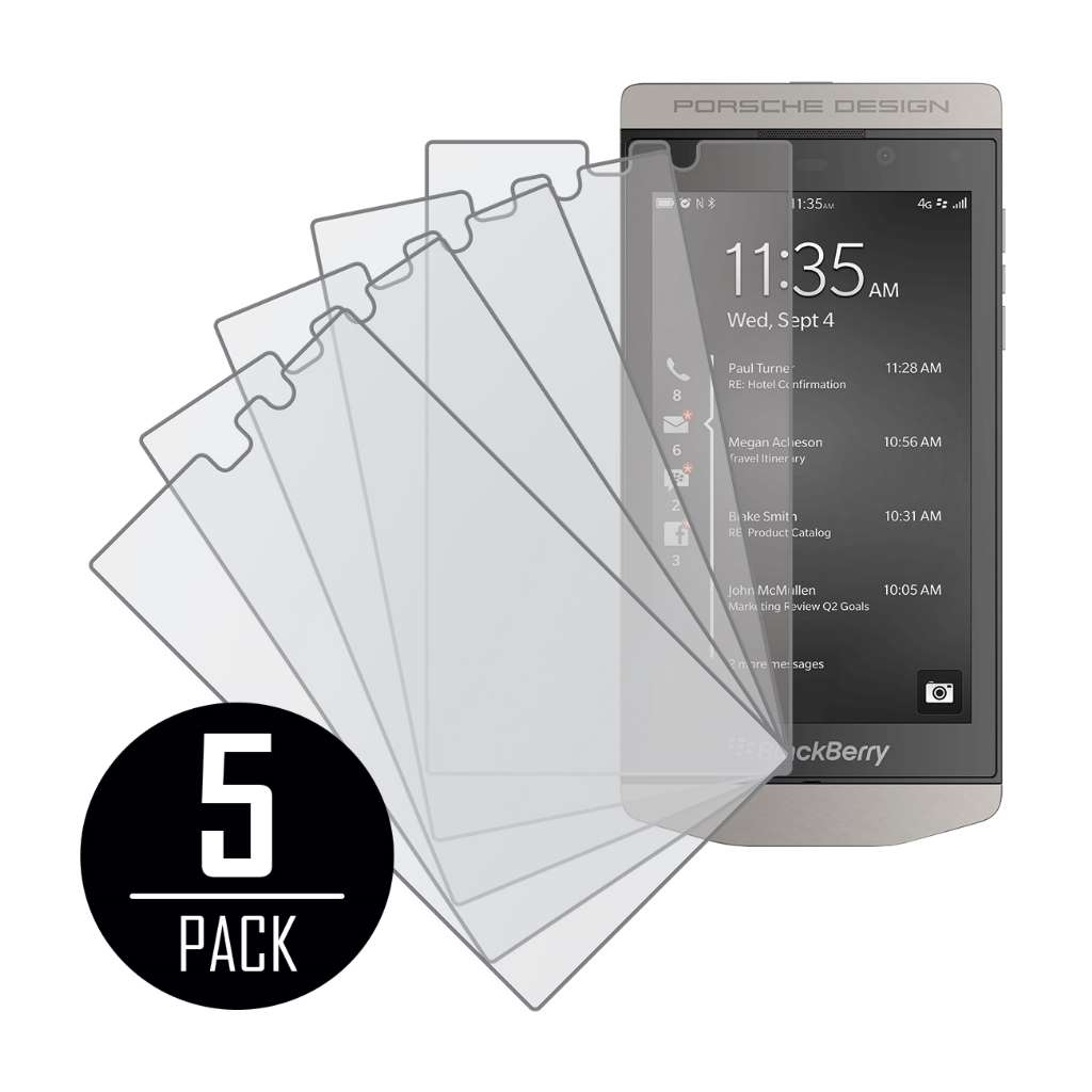 BlackBerry P'9982 MPERO 5 Pack of Matte Anti-Glare Screen Protectors