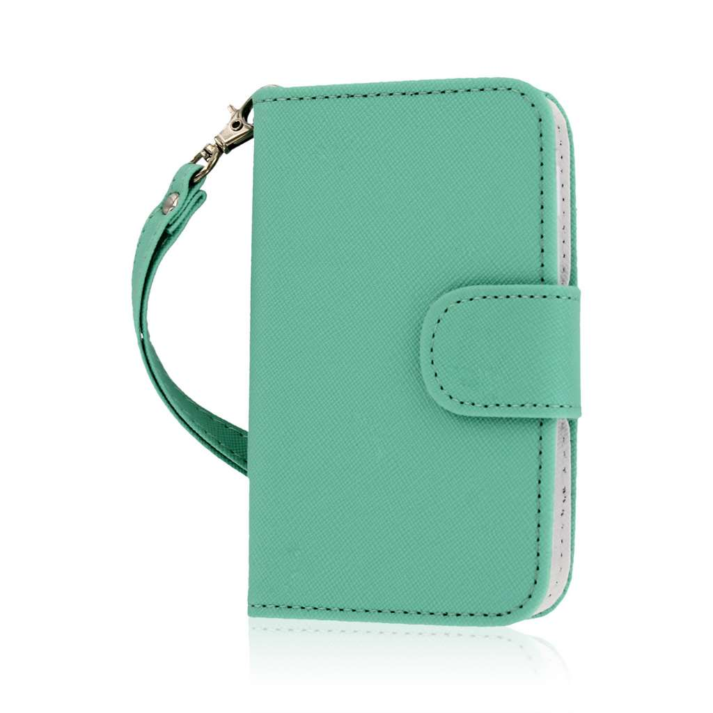 LG Optimus Dynamic 2 - Mint MPERO FLEX FLIP Wallet Case Cover