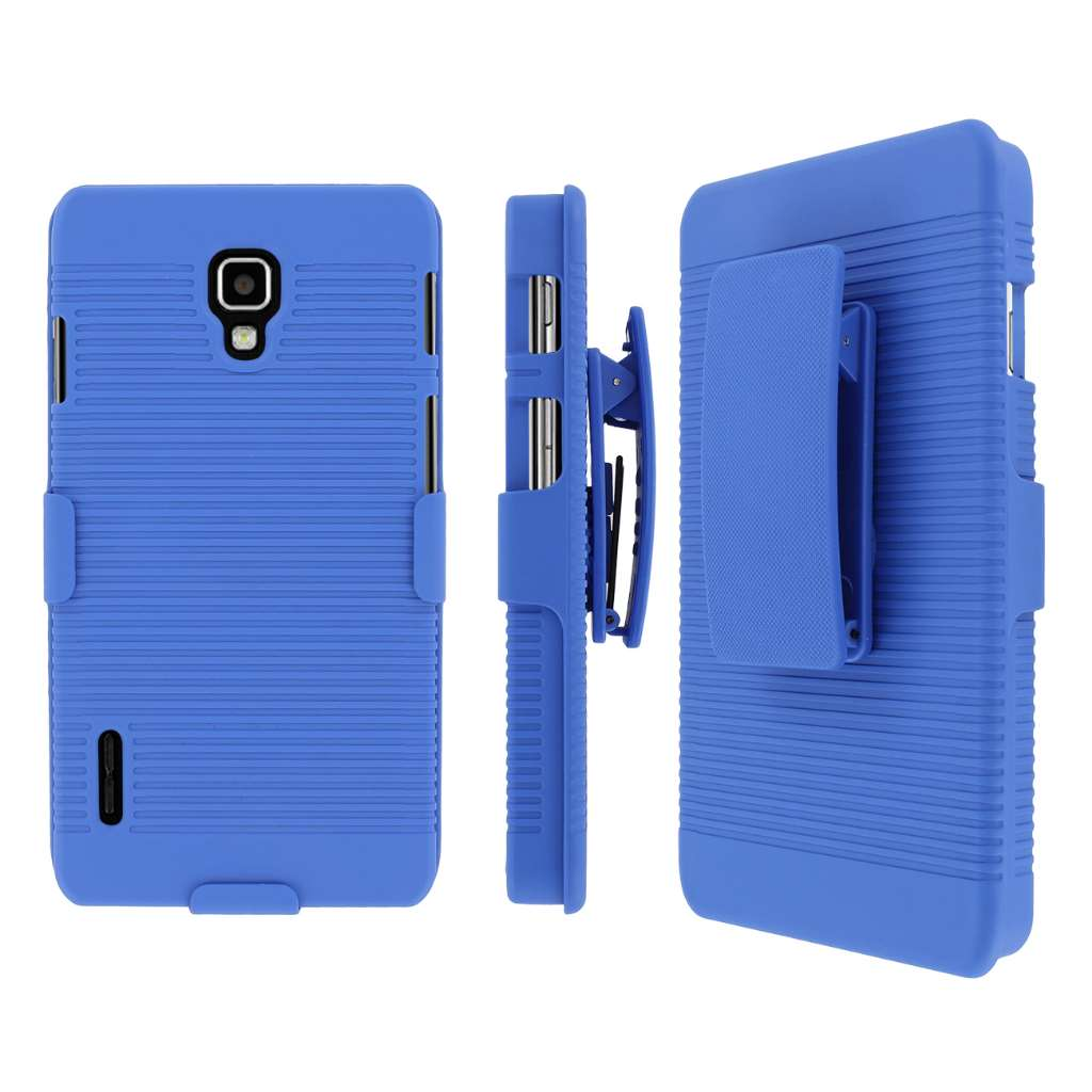 LG Optimus F7 MPERO 3 in 1 Tough Kickstand Case Cover