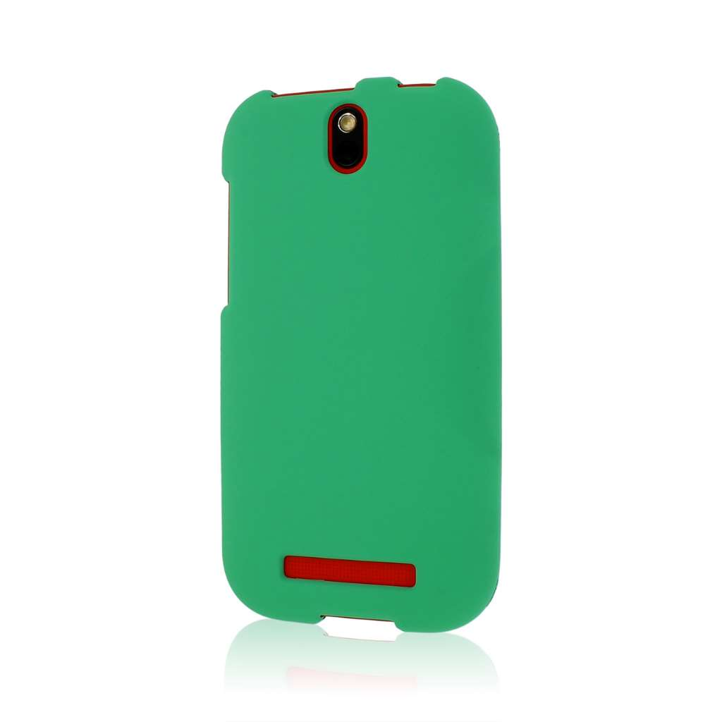 HTC One SV - Mint Green MPERO SNAPZ - Rubberized Case Cover