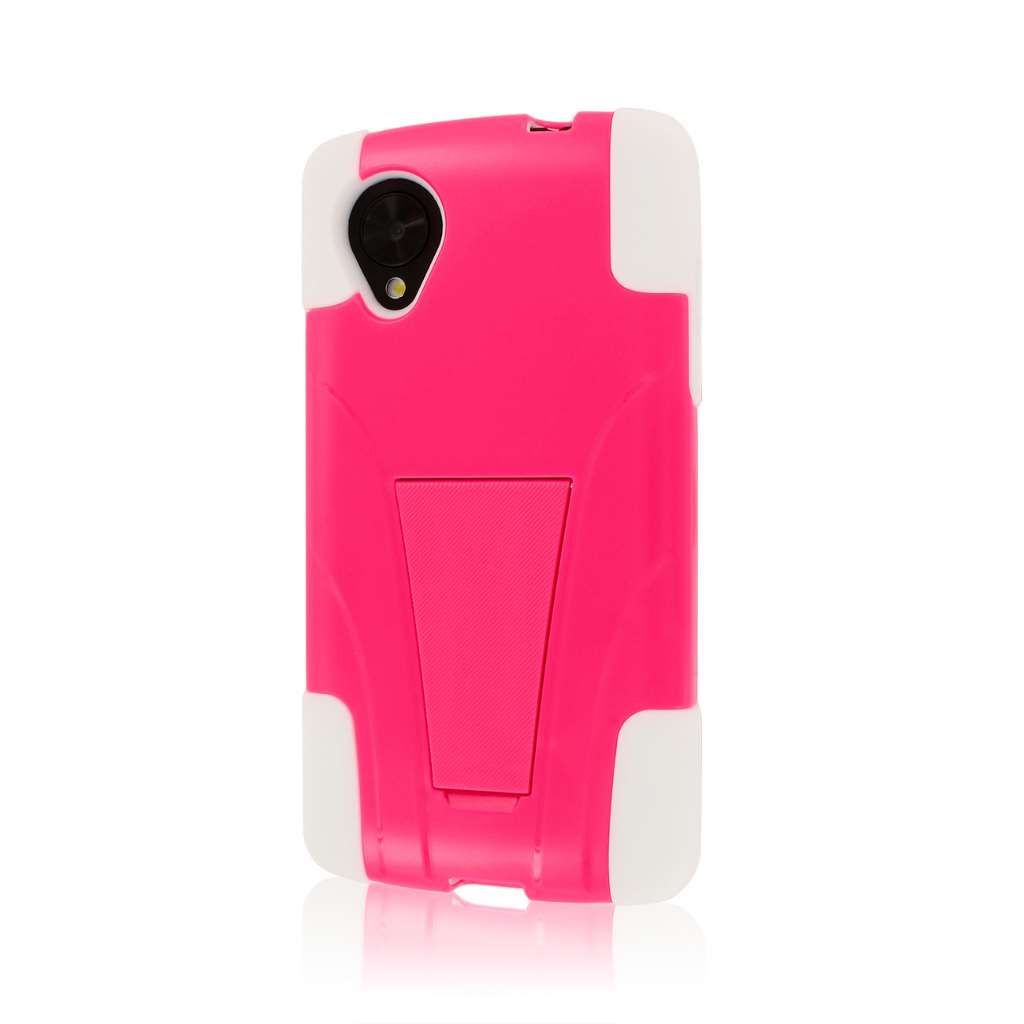 Google Nexus 5 - HOT PINK MPERO IMPACT X - Kickstand Case Cover