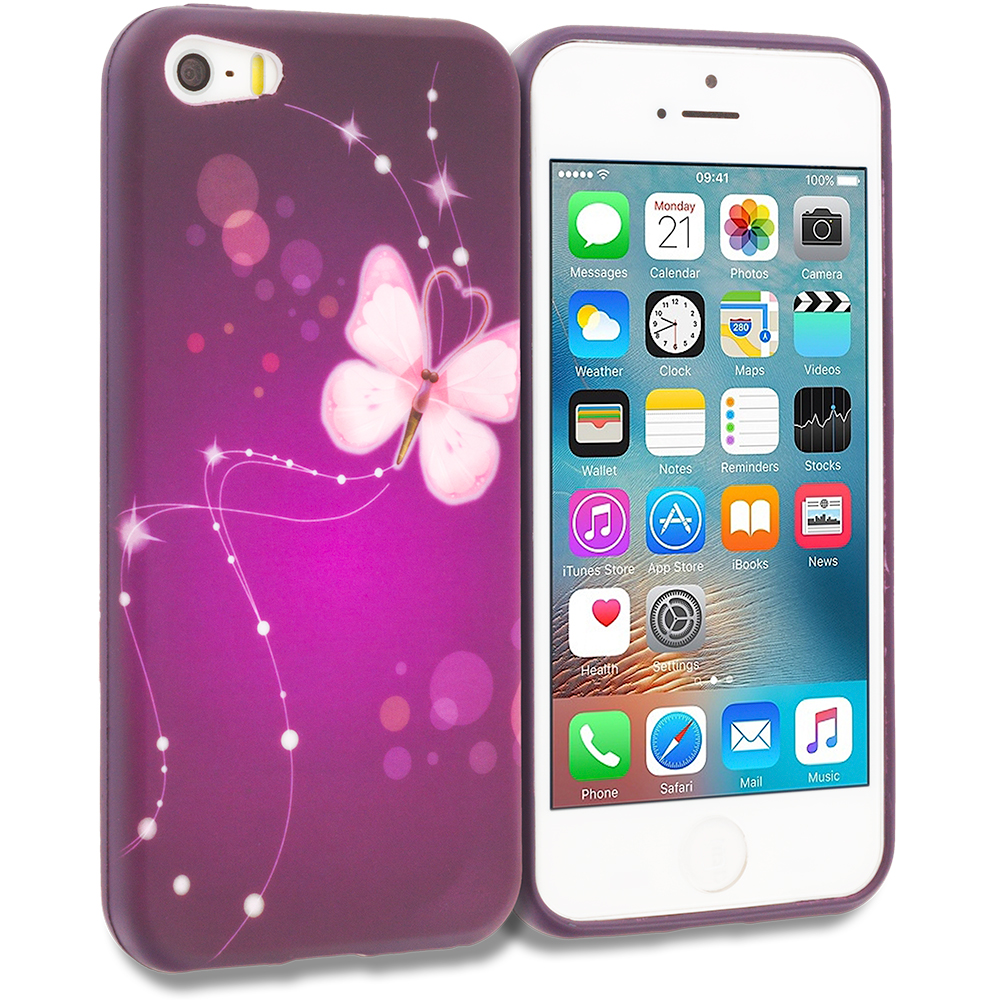 Apple iPhone 5 Dream Butterfly TPU Design Soft Rubber Case Cover