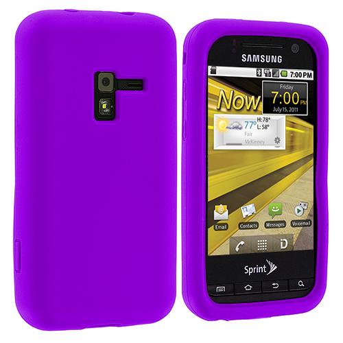 Samsung Conquer 4G D600 Purple Silicone Soft Skin Case Cover