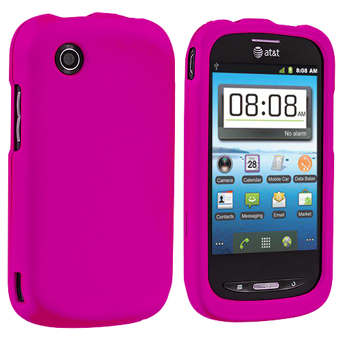 ZTE Avail Z990 Hot Pink Hard Rubberized Case Cover