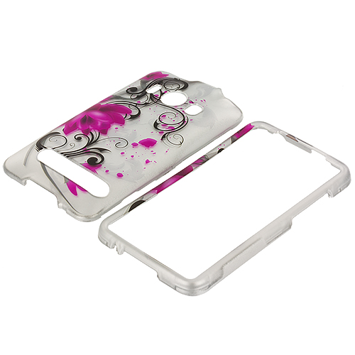HTC EVO 4G Pink Lotus Design Crystal Hard Case Cover