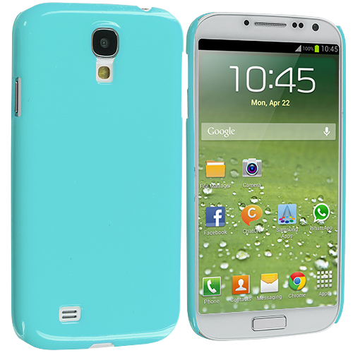 Samsung Galaxy S4 Baby Blue Solid Crystal Hard Back Cover Case