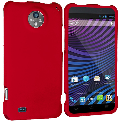 ZTE Vital N9810 Red Hard Rubberized Case Cover